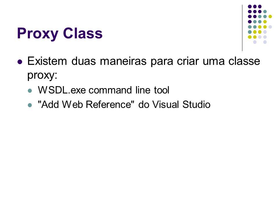Proxy Class Existem duas maneiras para criar uma classe proxy: