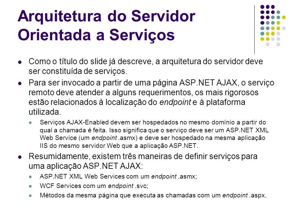 Arquitetura do Servidor Orientada a Serviços
