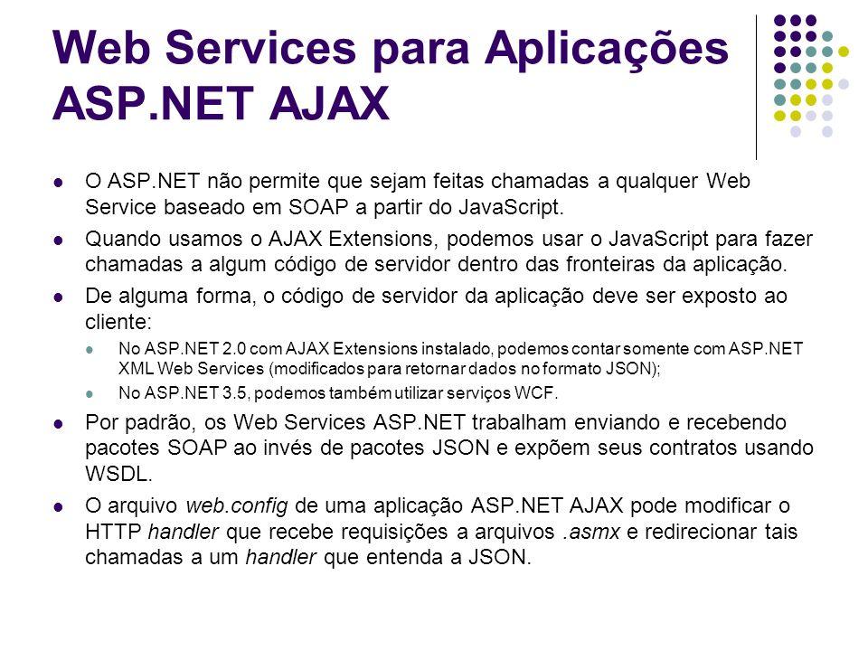 Web Services para Aplicações ASP.NET AJAX