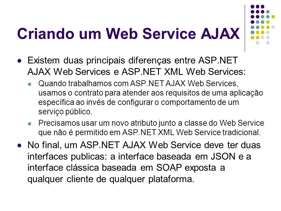 Criando um Web Service AJAX