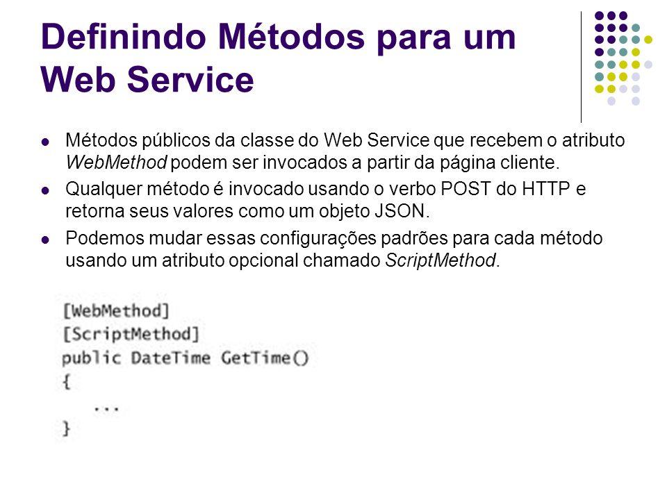 Definindo Métodos para um Web Service