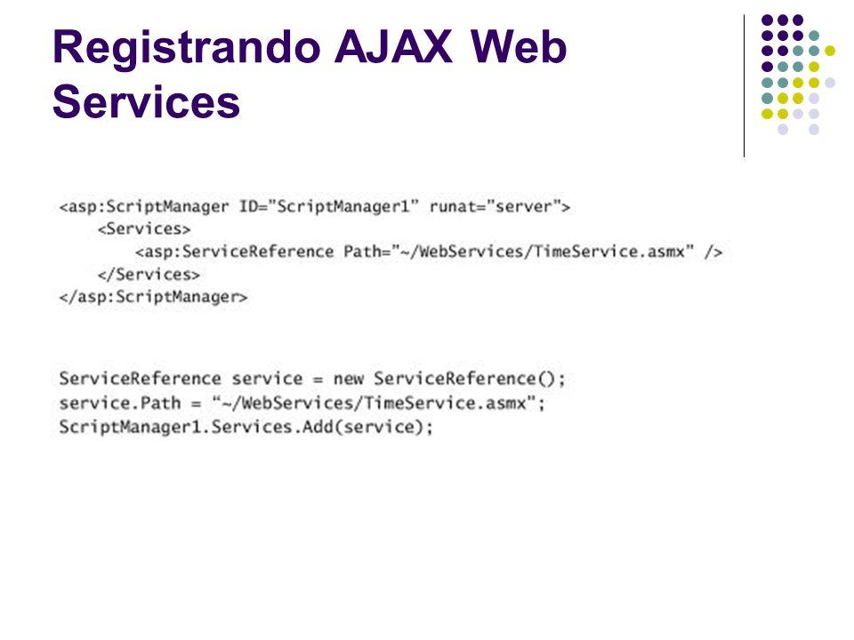 Registrando AJAX Web Services