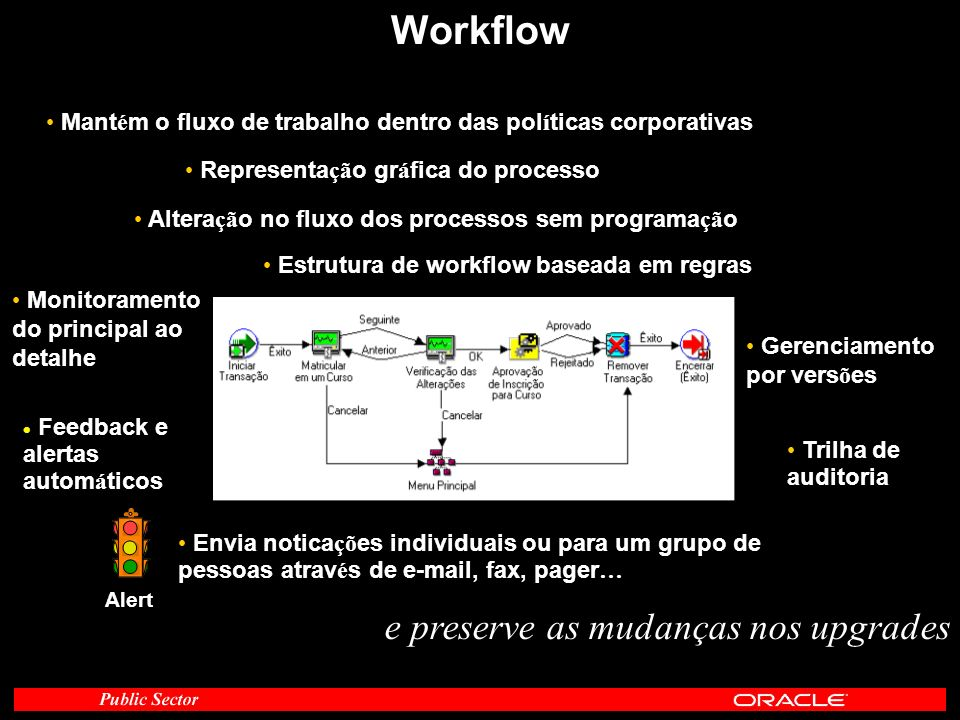 Workflow e preserve as mudanças nos upgrades
