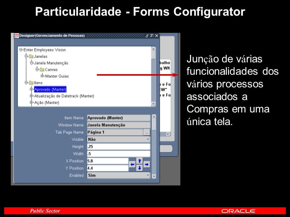 Particularidade - Forms Configurator