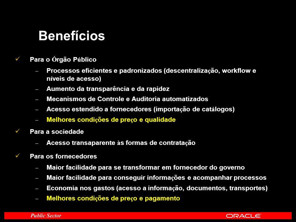 Benefícios Para o Órgão Público