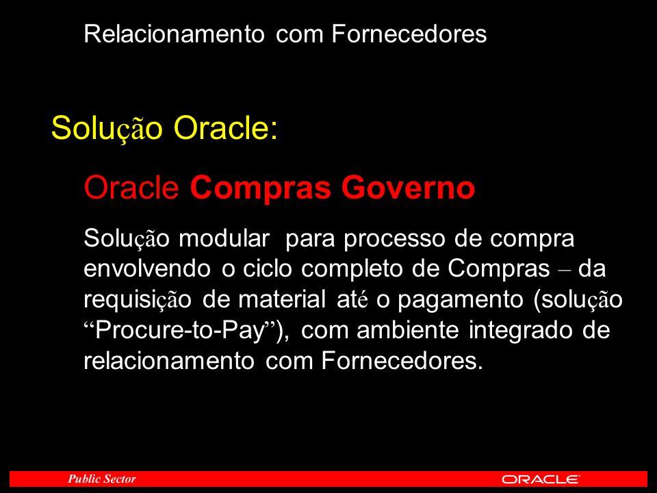 Oracle Compras Governo