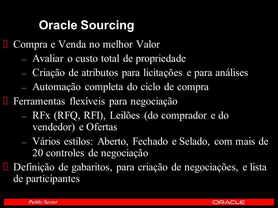 Oracle Sourcing Compra e Venda no melhor Valor