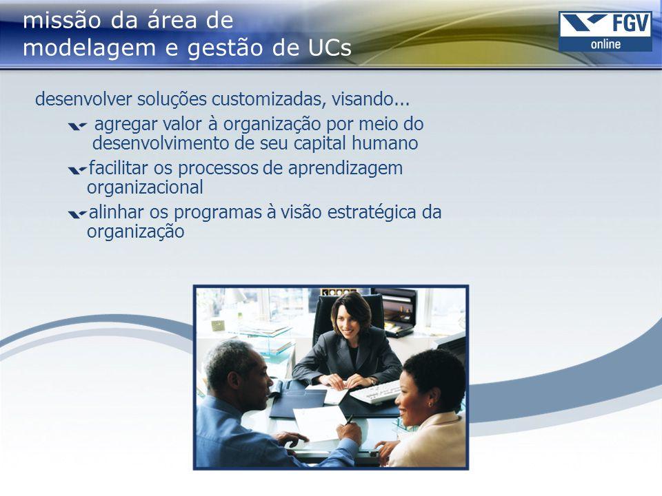 missão da área de modelagem e gestão de UCs