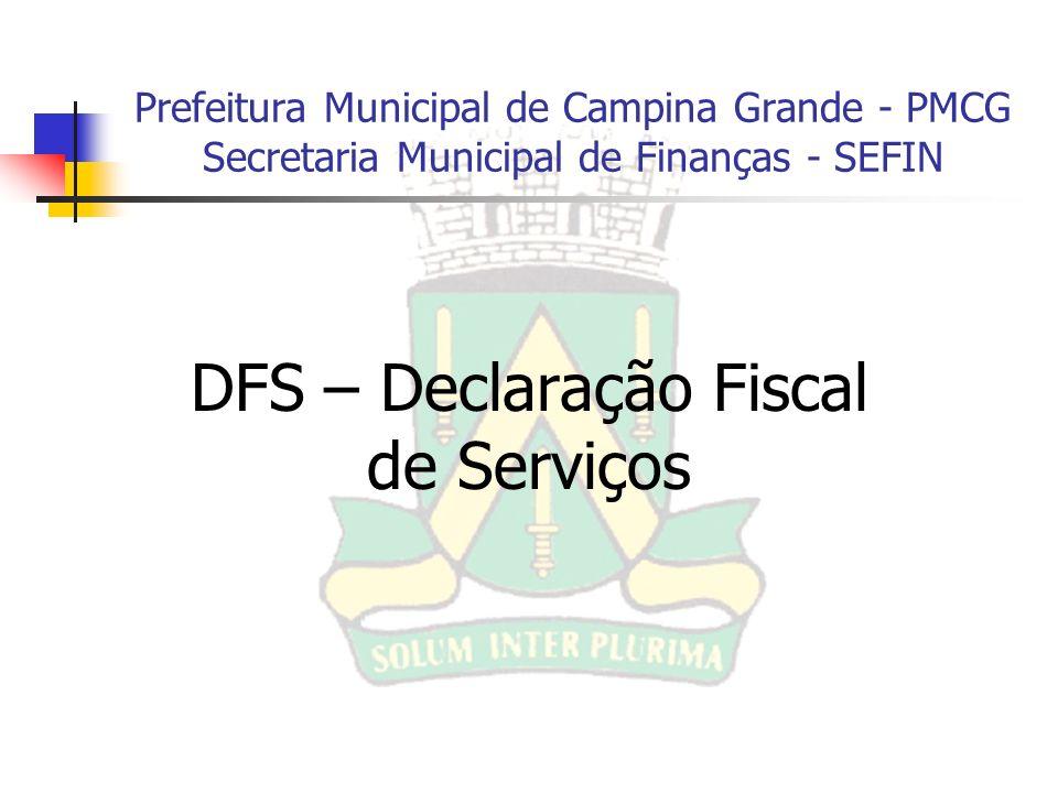 DFS – Declaração Fiscal de Serviços