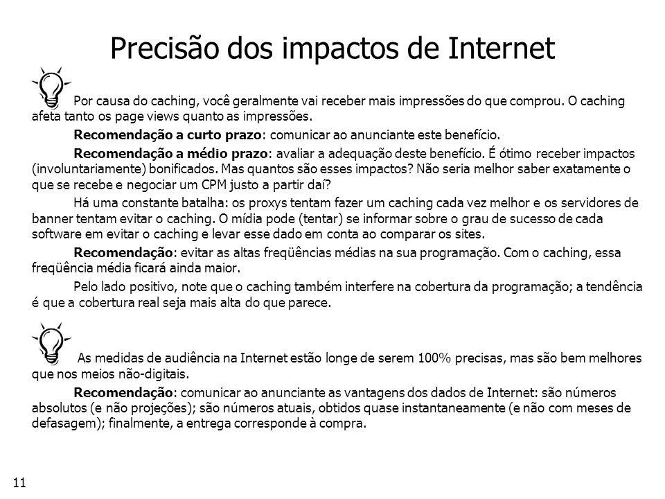 Precisão dos impactos de Internet