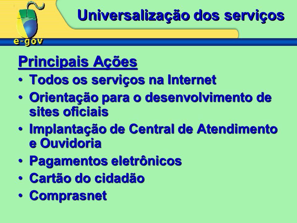 Universalização dos serviços