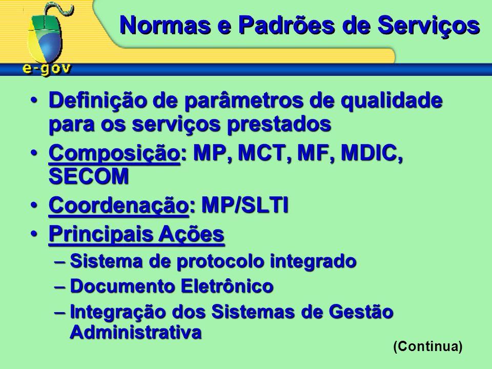 Normas e Padrões de Serviços