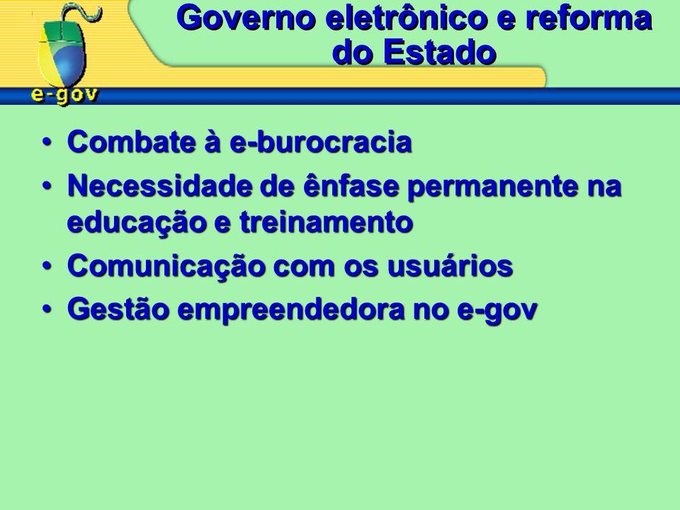 Governo eletrônico e reforma do Estado