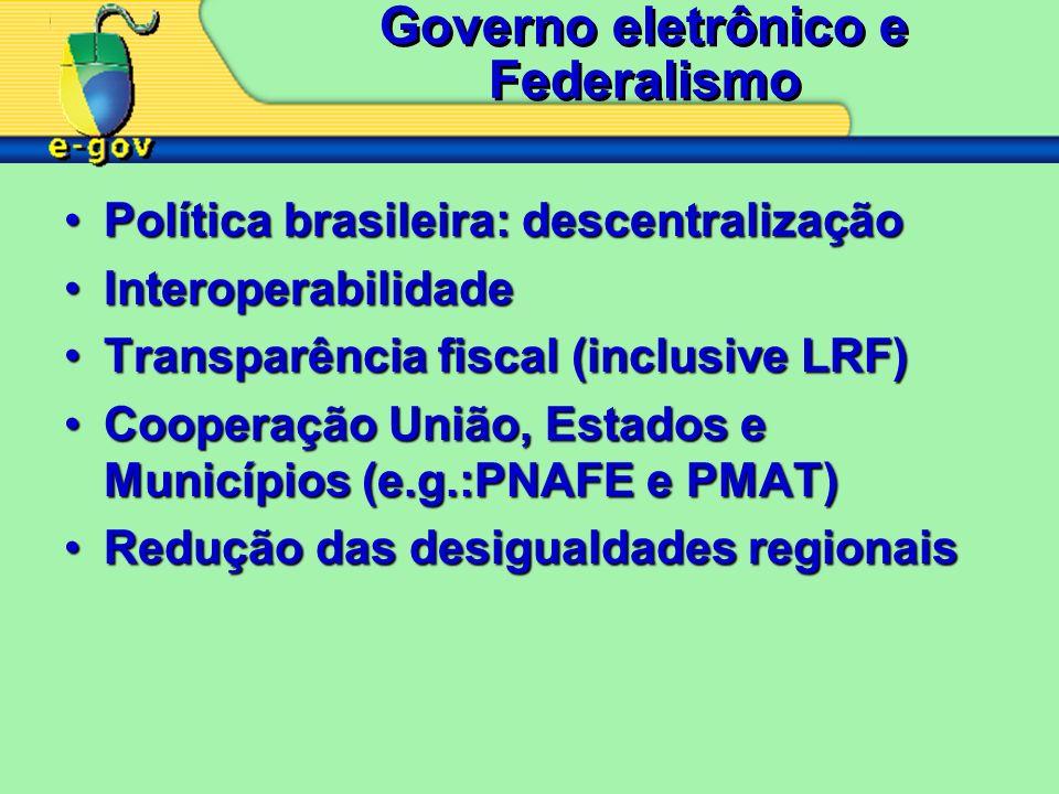 Governo eletrônico e Federalismo