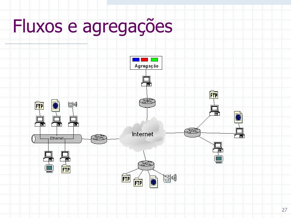 Fluxos e agregações