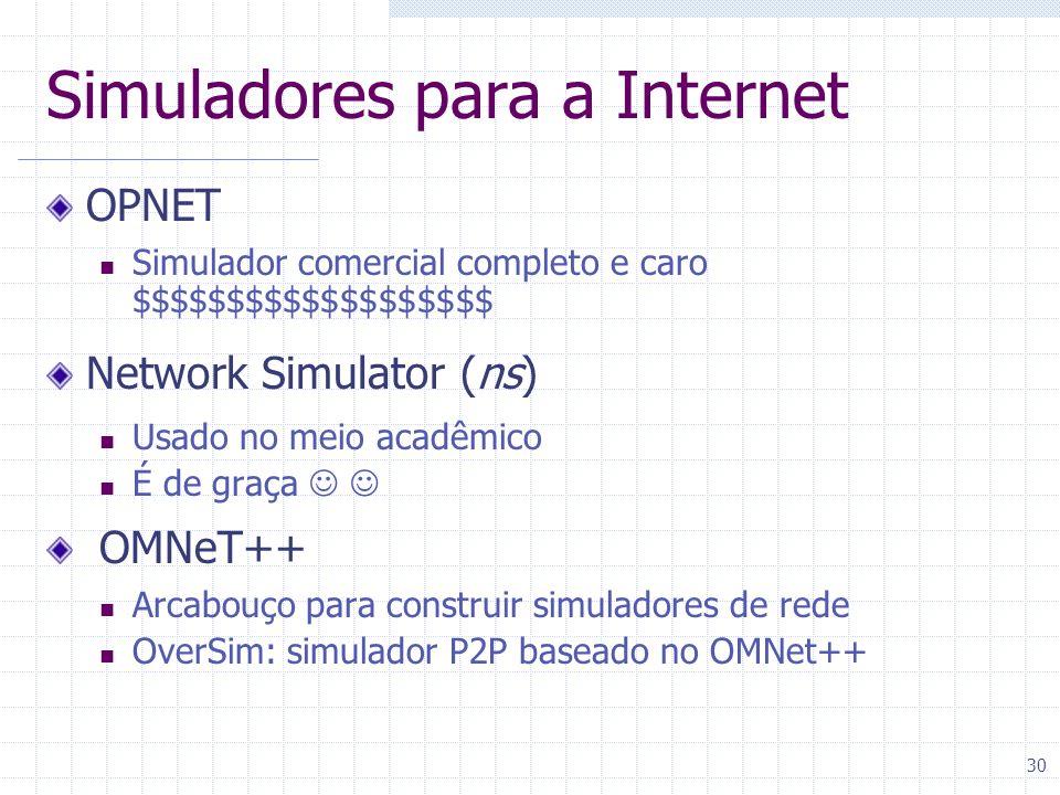 Simuladores para a Internet