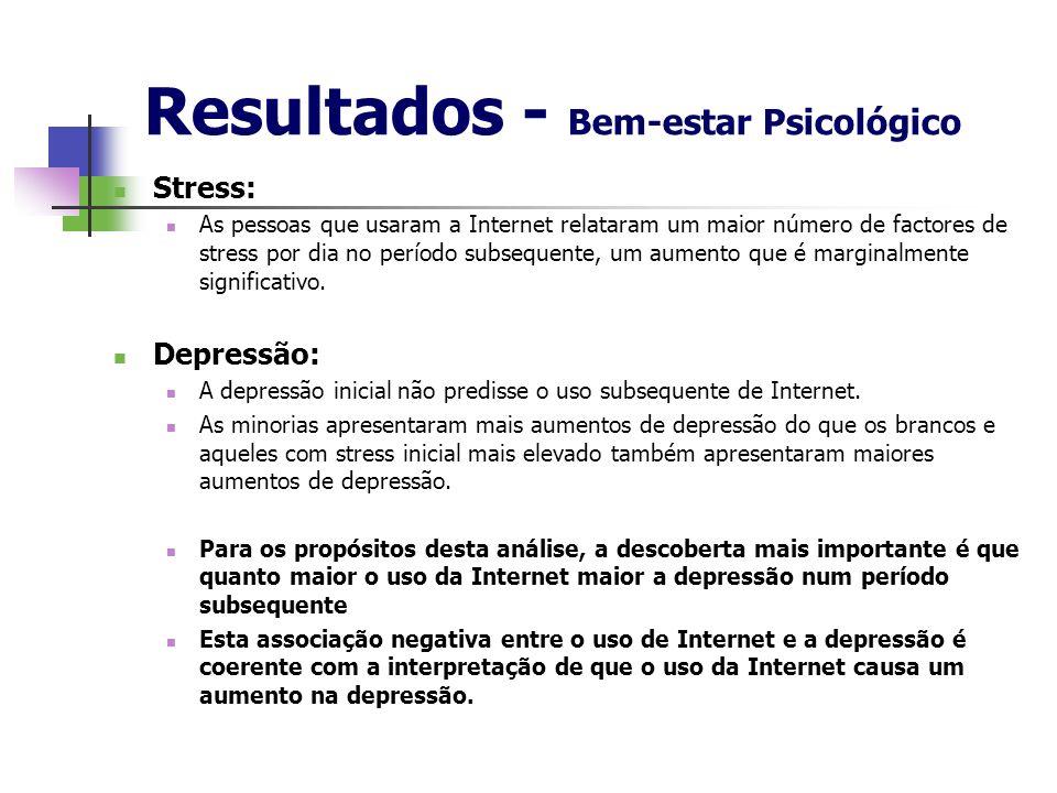 Resultados - Bem-estar Psicológico