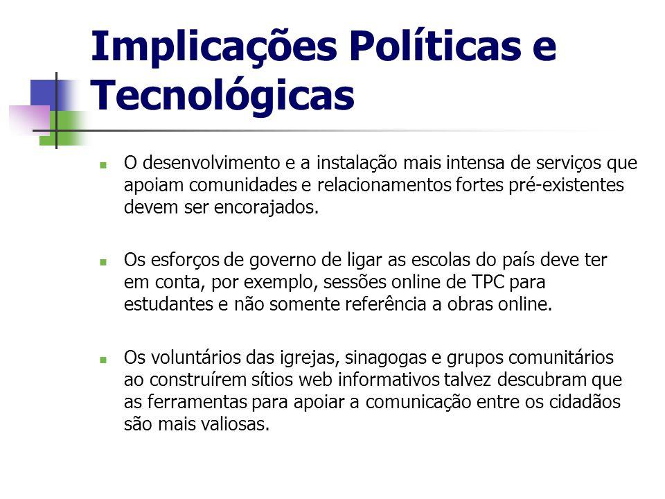 Implicações Políticas e Tecnológicas