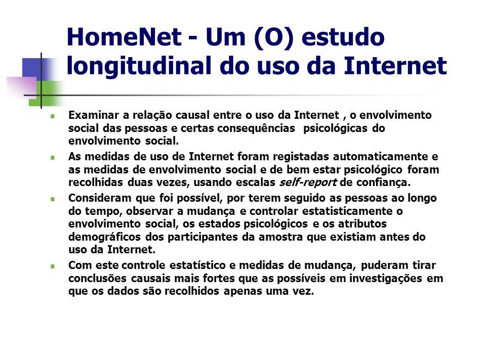 HomeNet - Um (O) estudo longitudinal do uso da Internet