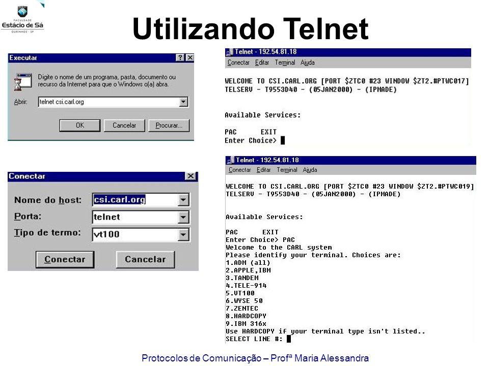 Utilizando Telnet