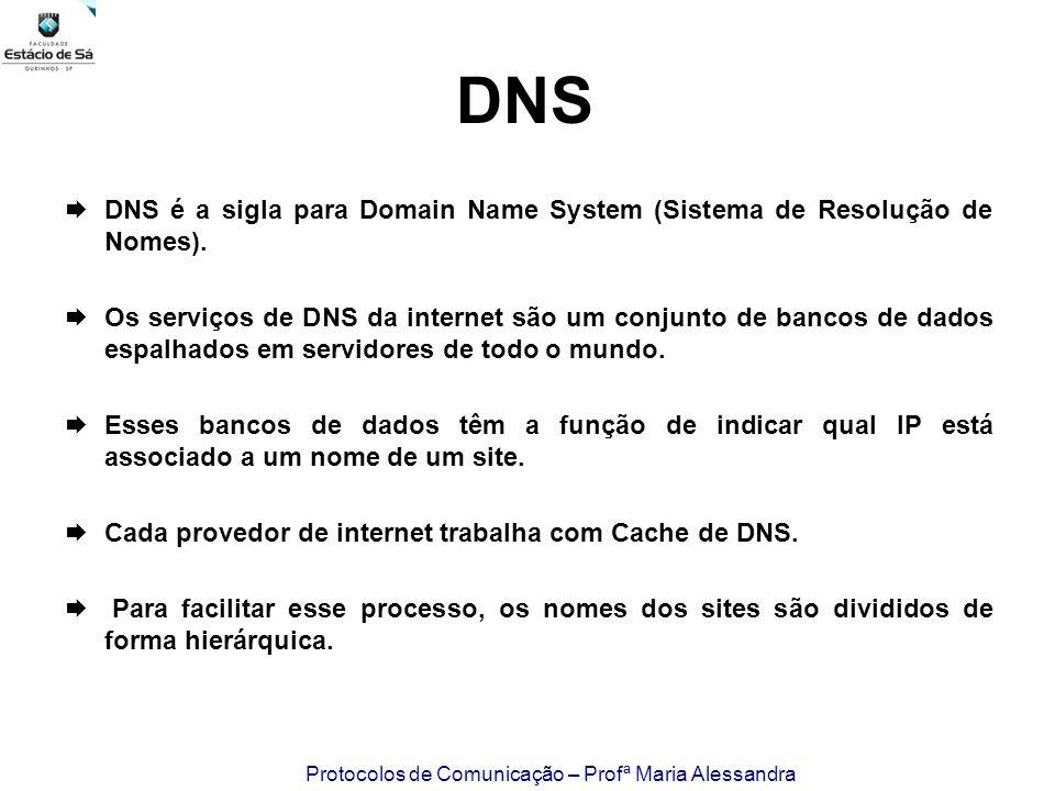 DNS DNS é a sigla para Domain Name System (Sistema de Resolução de Nomes).