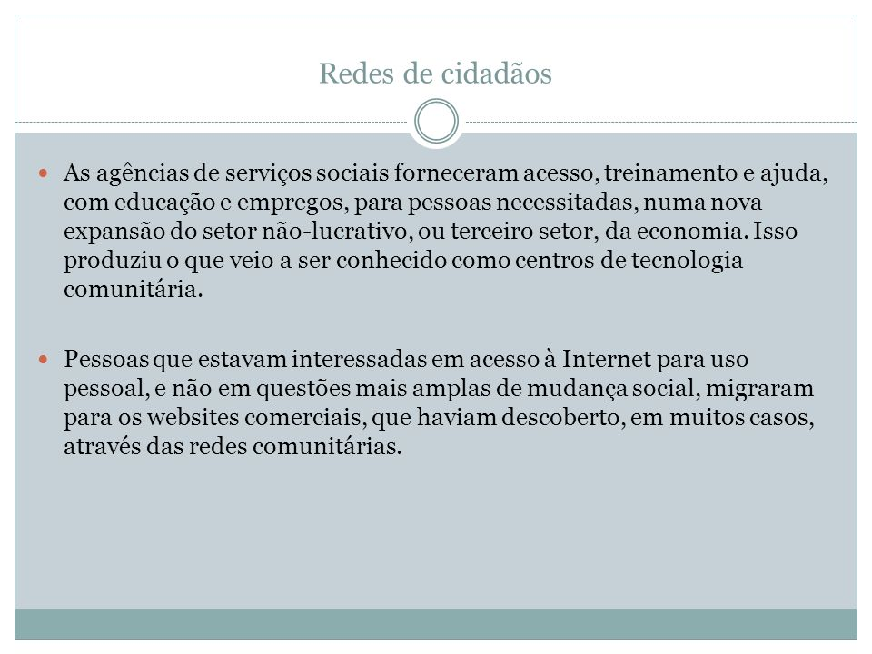 Redes de cidadãos