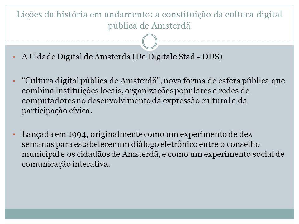 Lições da história em andamento: a constituição da cultura digital pública de Amsterdã