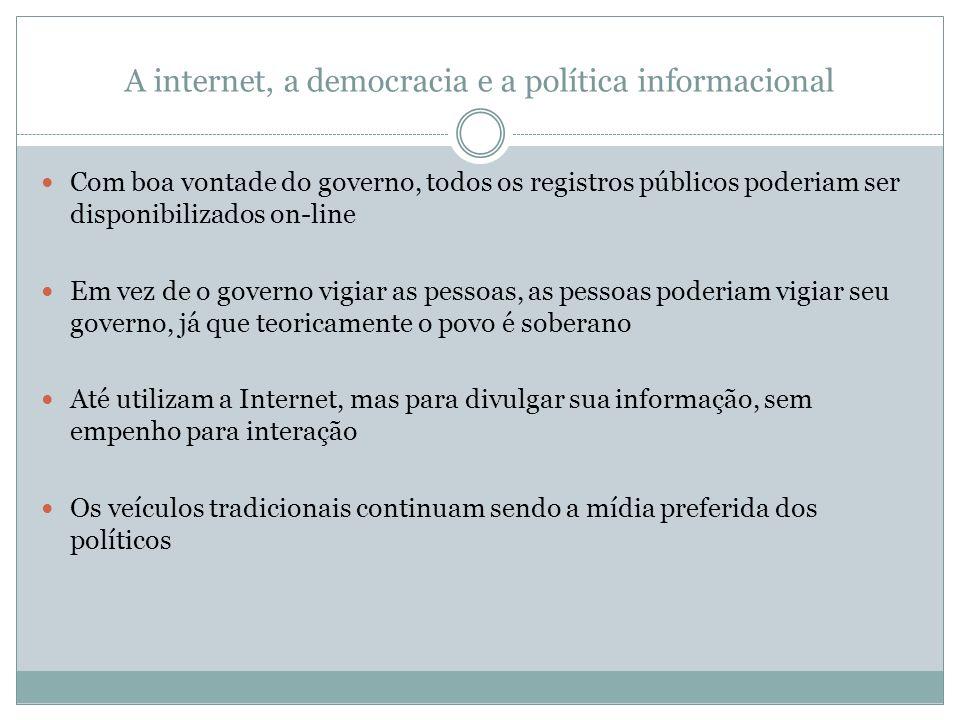 A internet, a democracia e a política informacional