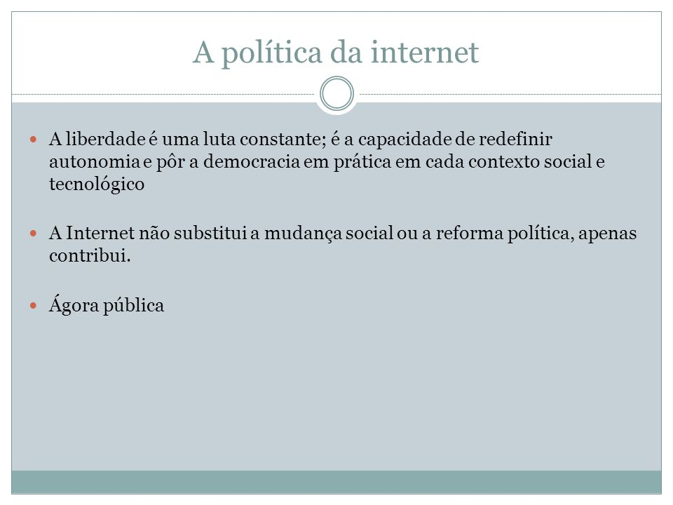 A política da internet