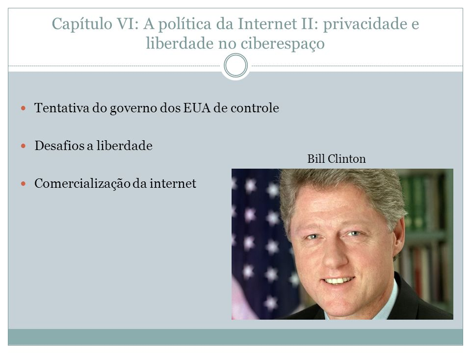 Capítulo VI: A política da Internet II: privacidade e liberdade no ciberespaço
