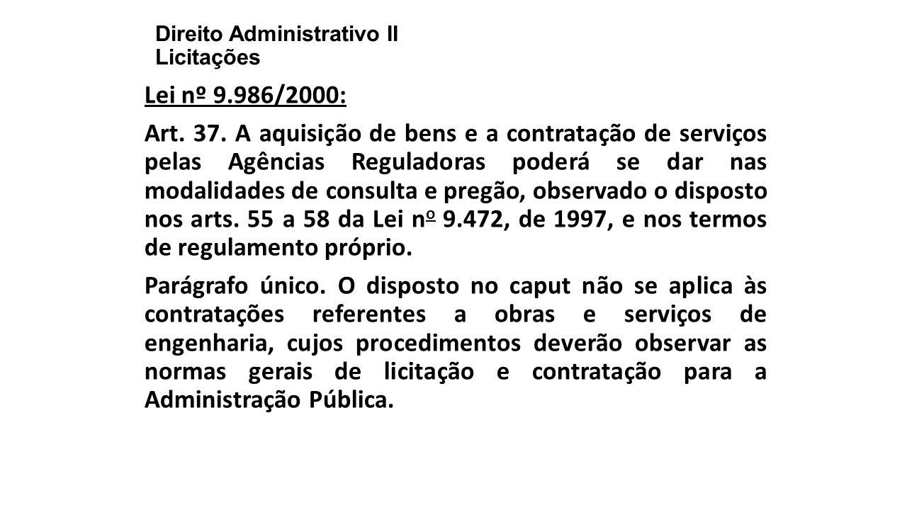 Direito Administrativo II Licitações