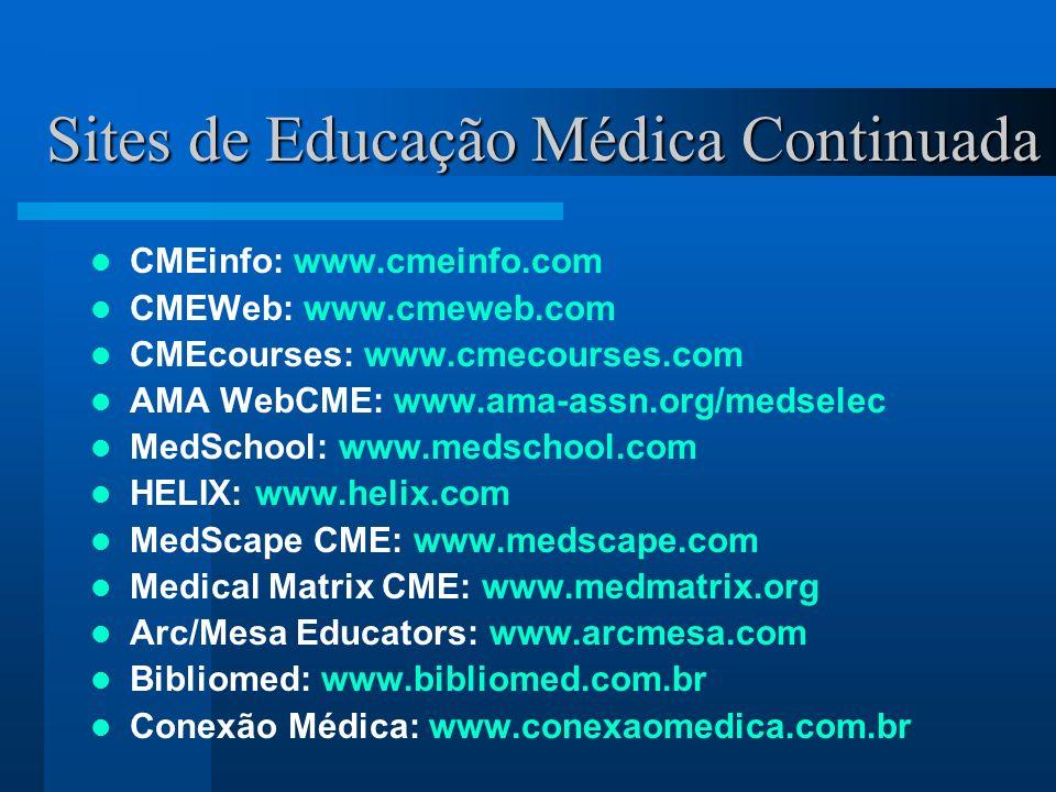 Sites de Educação Médica Continuada