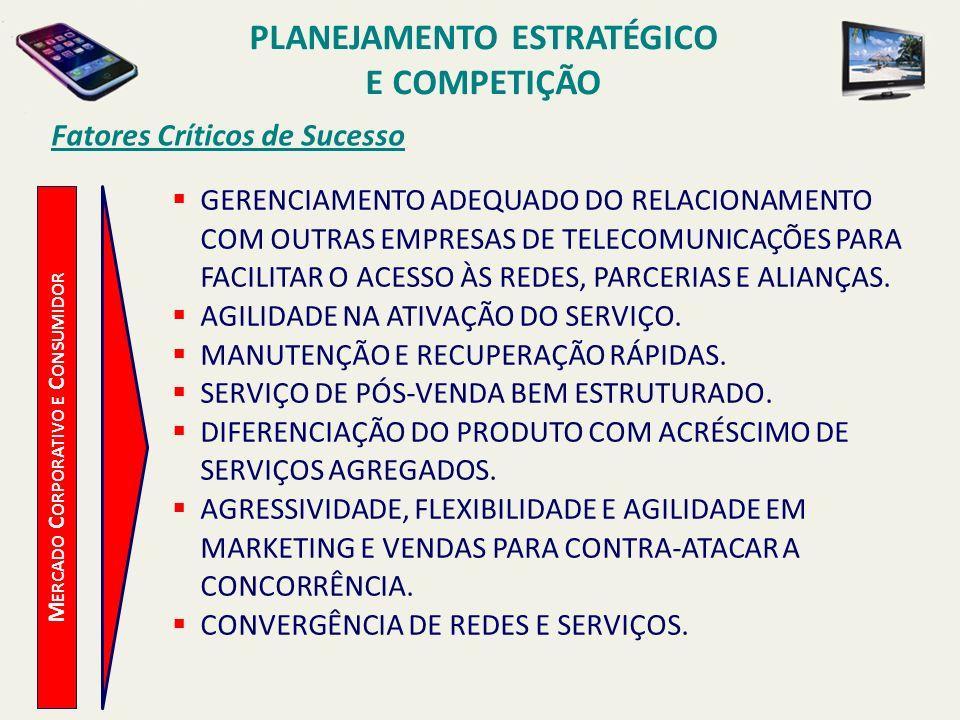 PLANEJAMENTO ESTRATÉGICO Mercado Corporativo e Consumidor