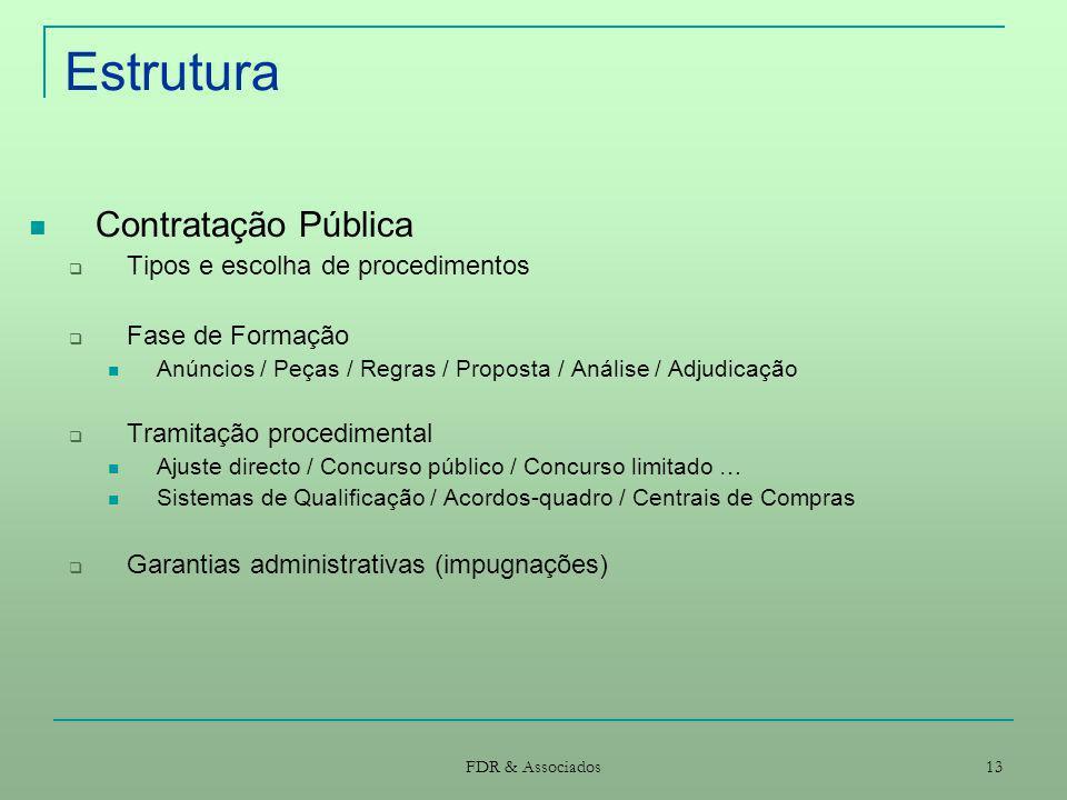 Estrutura Contratação Pública Tipos e escolha de procedimentos
