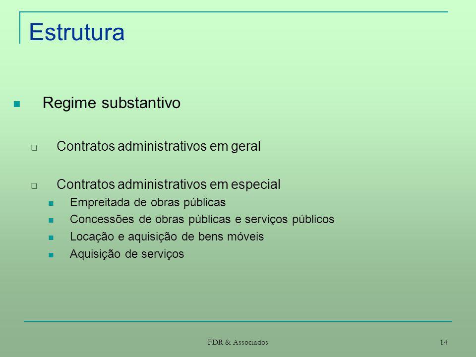 Estrutura Regime substantivo Contratos administrativos em geral