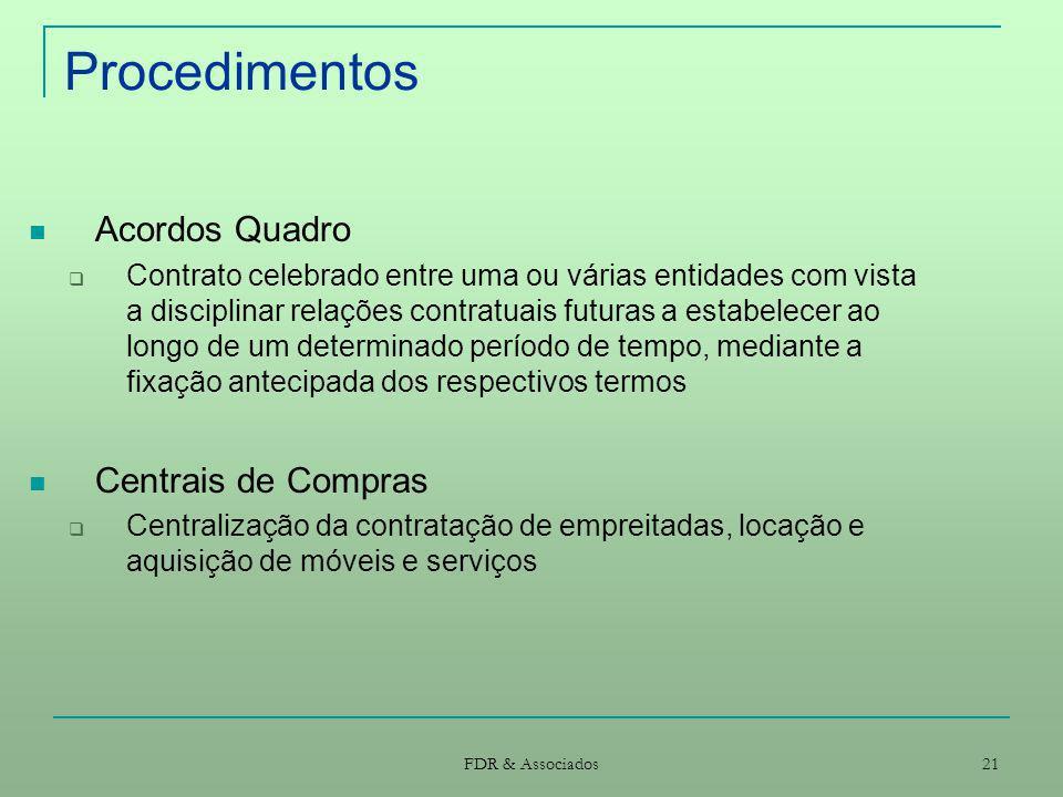 Procedimentos Acordos Quadro Centrais de Compras