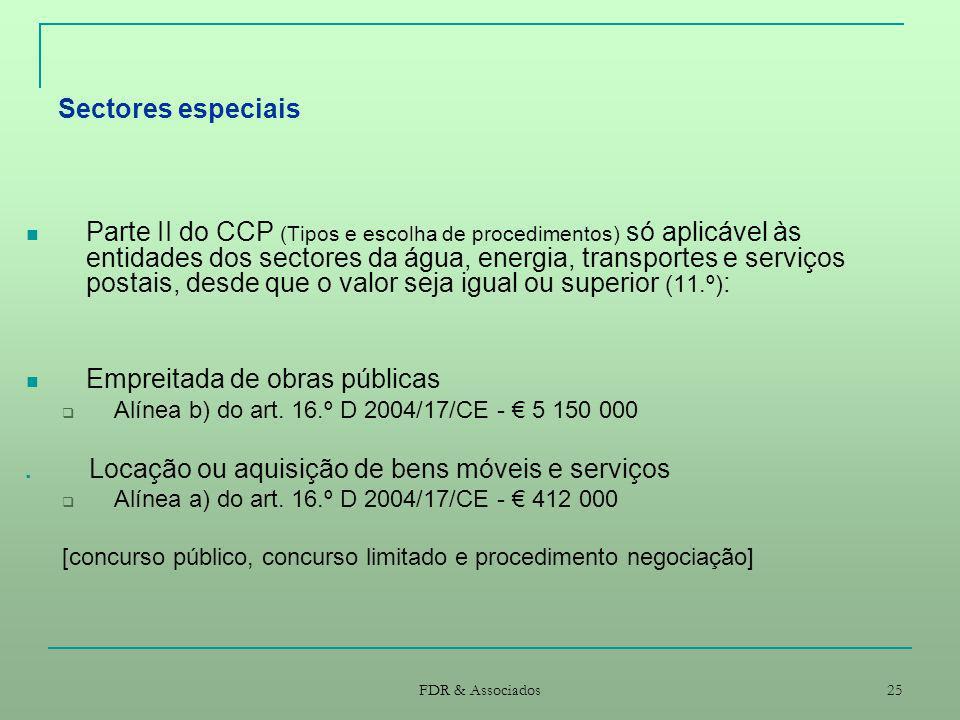 Sectores especiais