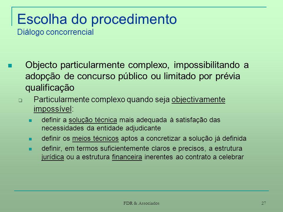 Escolha do procedimento Diálogo concorrencial