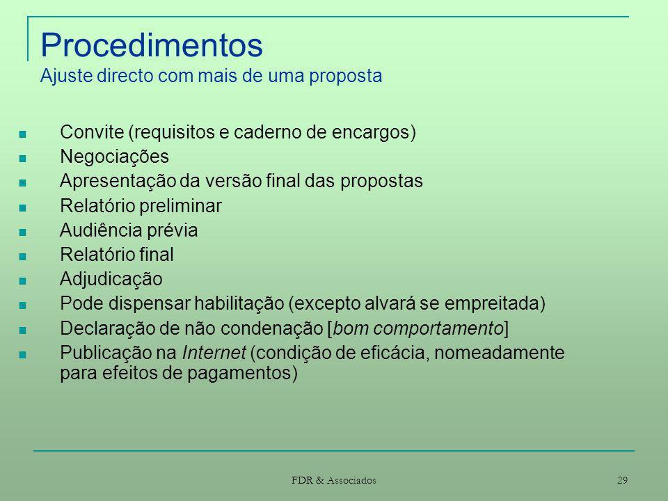 Procedimentos Ajuste directo com mais de uma proposta