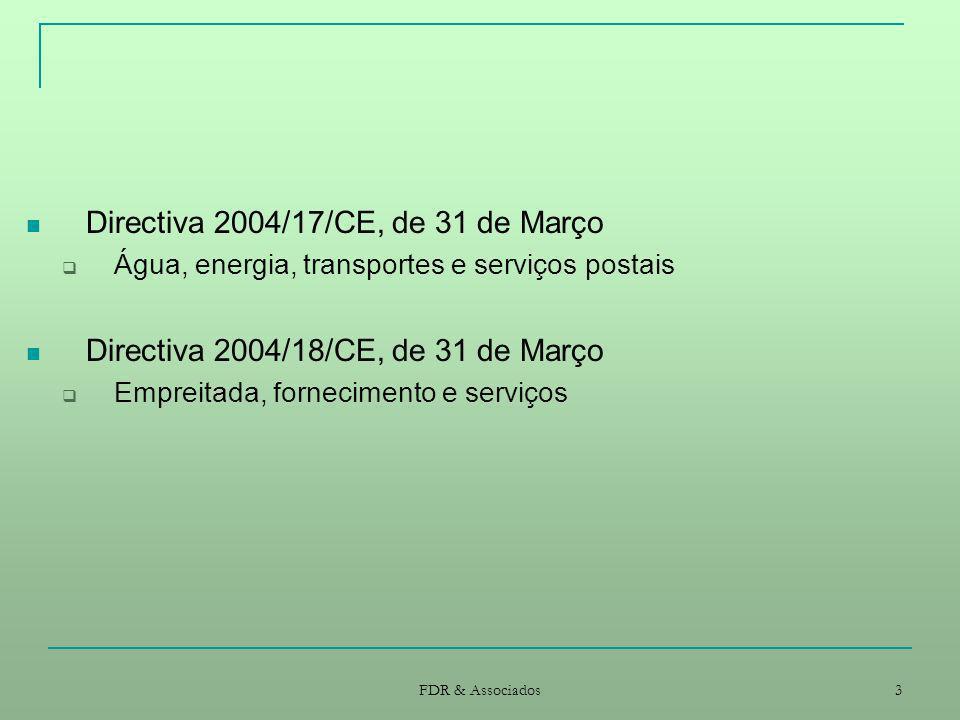 Directiva 2004/17/CE, de 31 de Março