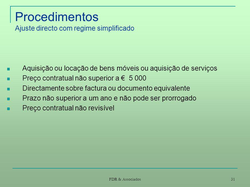 Procedimentos Ajuste directo com regime simplificado