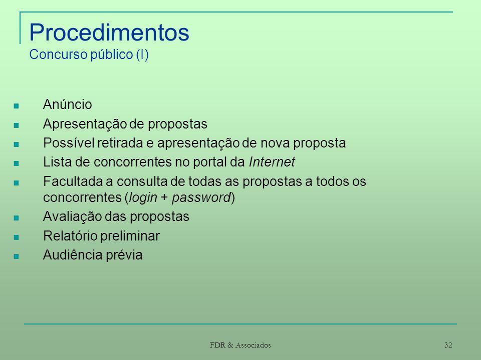Procedimentos Concurso público (I)