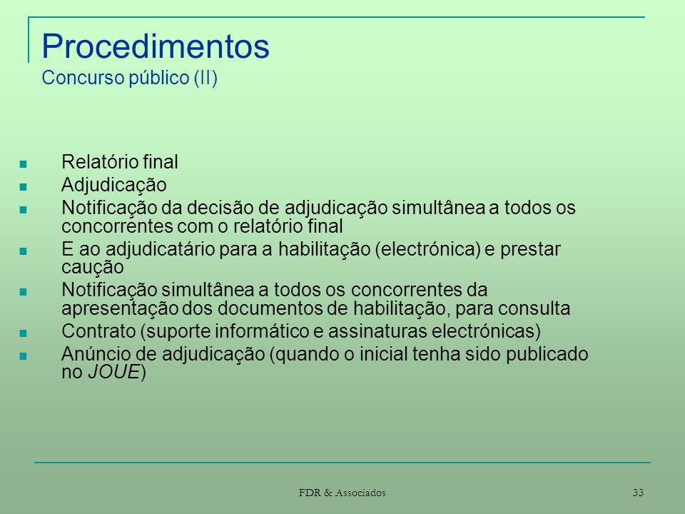 Procedimentos Concurso público (II)