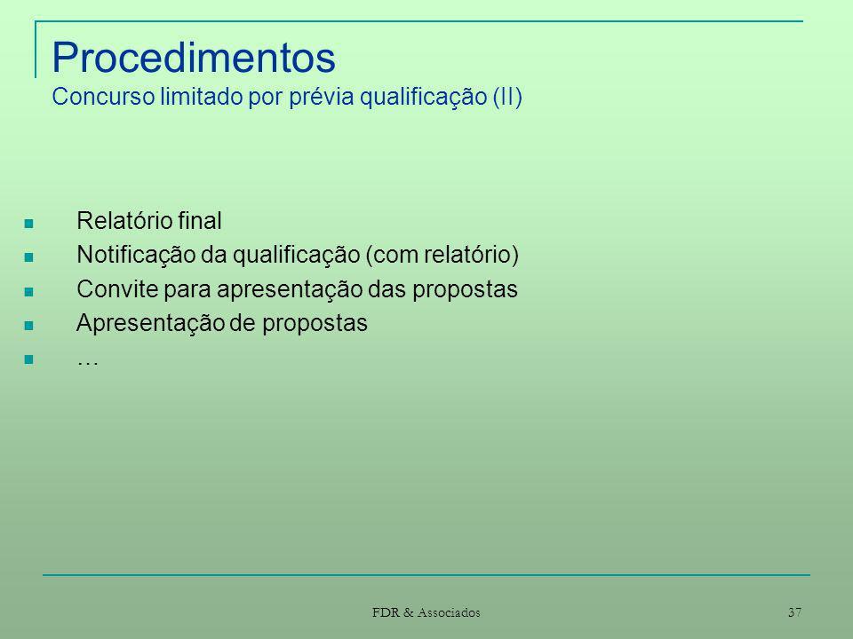 Procedimentos Concurso limitado por prévia qualificação (II)