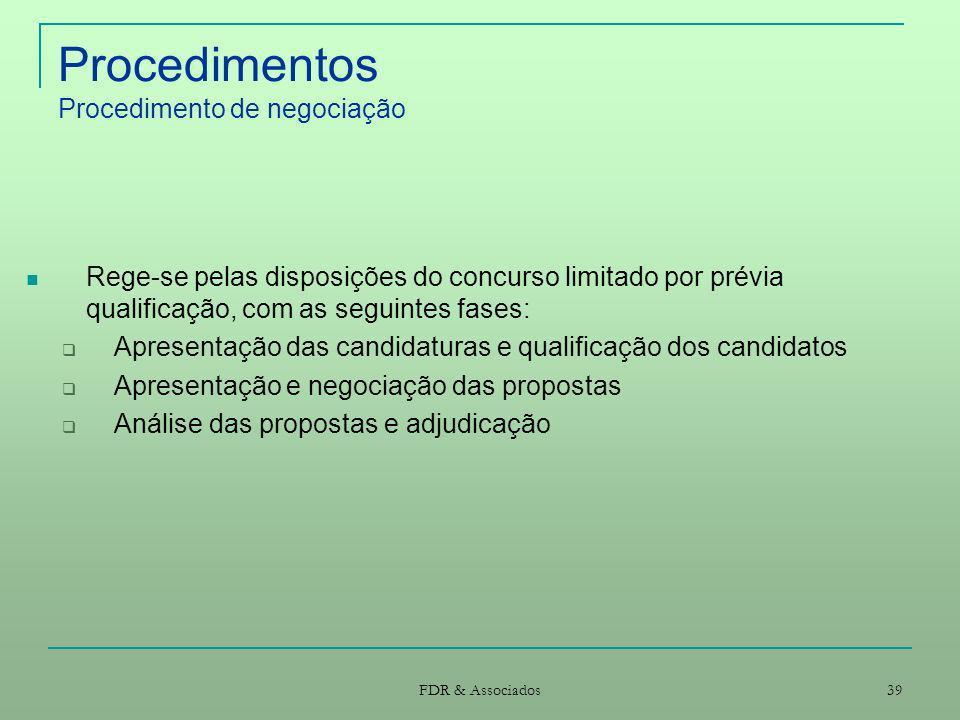 Procedimentos Procedimento de negociação