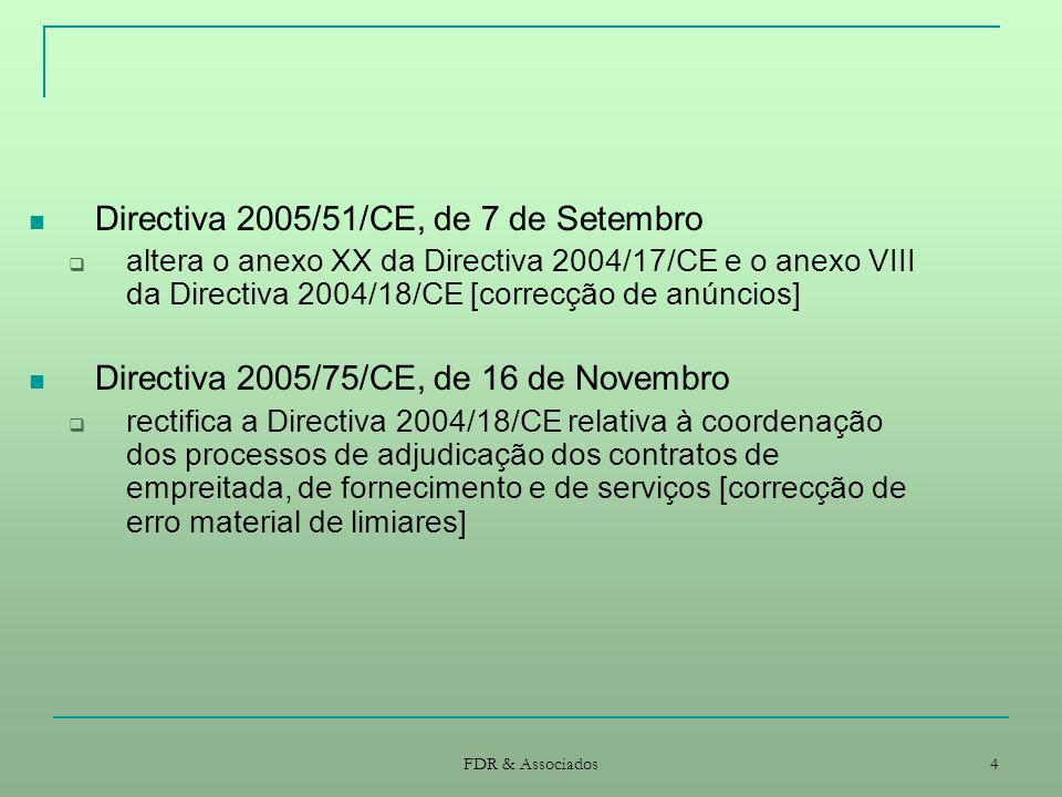 Directiva 2005/51/CE, de 7 de Setembro