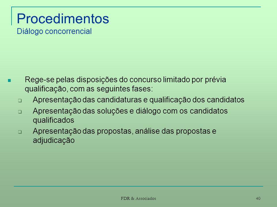 Procedimentos Diálogo concorrencial