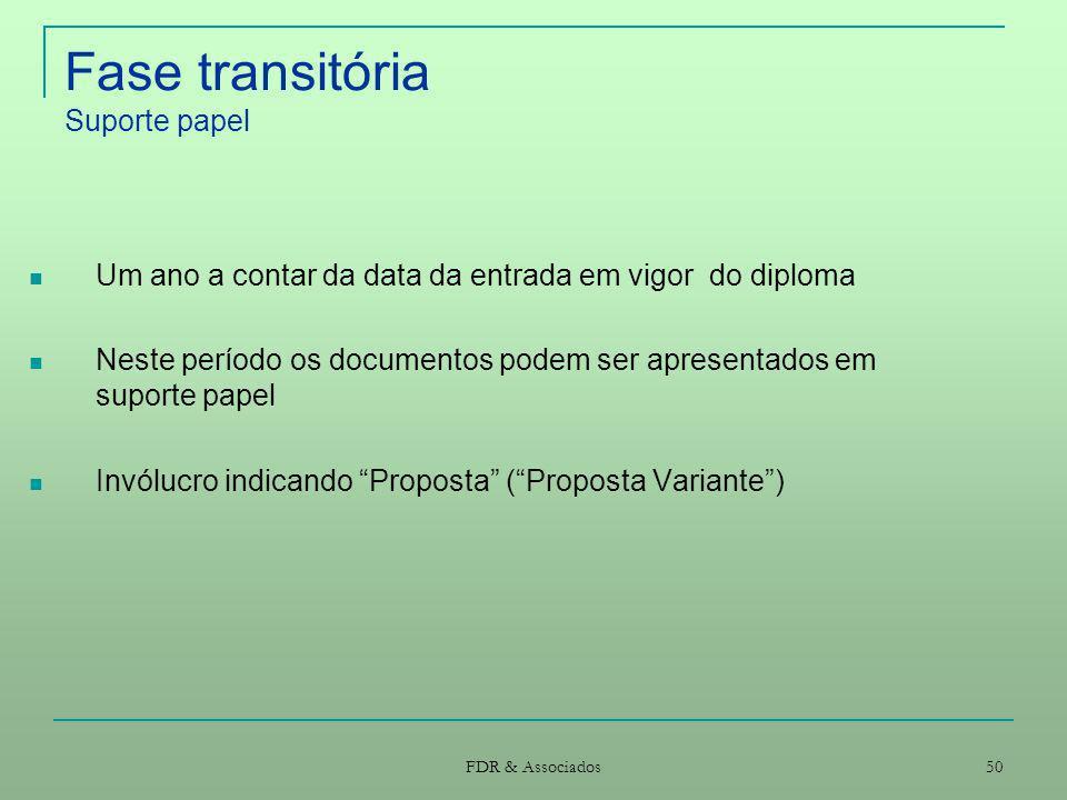 Fase transitória Suporte papel