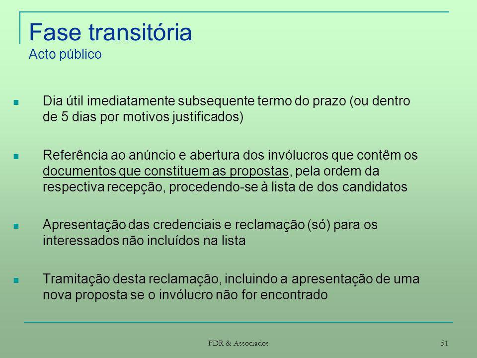 Fase transitória Acto público