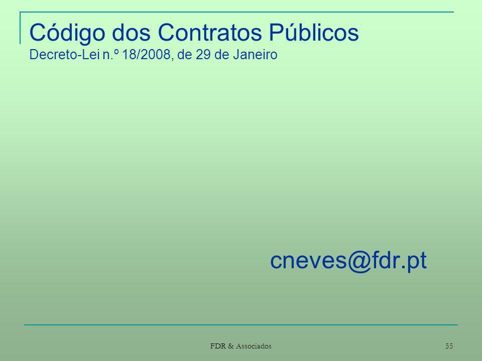 Código dos Contratos Públicos Decreto-Lei n